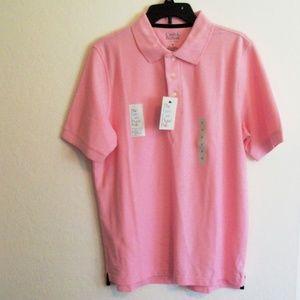 Croft & Barrow pink polo shirt Size M (#EV677)